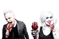 iZombie Blaine (David Anders) and Liv (Rose McIver)