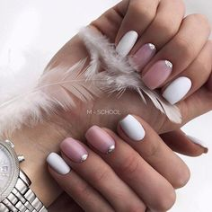 Manicure Matte Classy Nude Nails Ideas For 2019 Pedicure Designs, Nail Art Designs, Pedicure Ideas, Nail Ideas, Cute Spring Nails, Pink Manicure, Super Nails, White Nails, White Pedicure