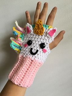 Colorful, Unique And Weather Friendly Unicorn Fingerless Gloves [Free Pattern] – Knit And Crochet Daily Colorful, Unique And Weather Friendly Unicorn Fingerless Gloves [Free Pattern] – Knit And Crochet Daily,Handarbeit Enter the magical world. Fingerless Gloves Crochet Pattern, Knitted Gloves, Crochet Mittens Free Pattern, Fingerless Mittens, Crochet For Kids, Knit Crochet, Crochet Hats, Crochet Unicorn Hat, Crochet Unicorn Pattern Free
