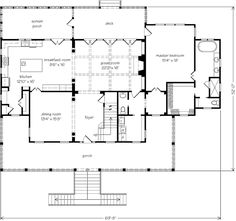 Sl1330 misc houses and condos pinterest house for Southern living house plans with keeping rooms