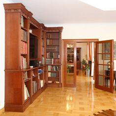 zabudowa biblioteczna dąb