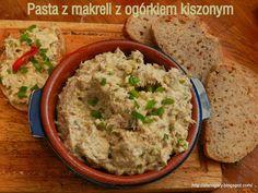 Stare Gary: Pasta z makreli z ogórkiem kiszonym Pasta, Mashed Potatoes, Salads, Sandwiches, Food And Drink, Healthy Recipes, Healthy Food, Ethnic Recipes, Ms