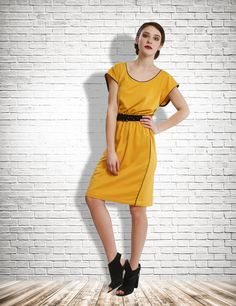 Straight Cut Sunshine Dress by AbhigeetByGeetika on Etsy