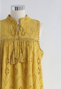 Try To Be Boho Embroidered Eyelet Maxi Dress in Mustard Stylish Dresses For Girls, Stylish Dress Designs, Dresses Kids Girl, Simple Dresses, Simple Pakistani Dresses, Pakistani Dress Design, Unique Fashion, Boho Chic, Kids Dress Wear