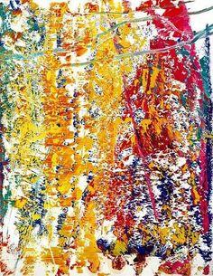 art-Walk — Gerhard Richter oil on paper Gerhard Richter Painting, Oil Painting Abstract, Abstract Art, Watercolor Artists, Painting Art, Watercolor Painting, Jackson Pollock, Art Walk, Abstract Landscape