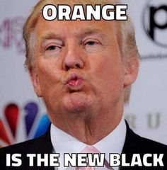 Donald Trump — Orange is the new black