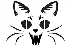 Here's a Vampire Cat pumpkin carving stencil to put you in a scary mood. This printable Halloween pumpkin carving stencil will put a fright into trick or treat visitors or smiles on your costume party guests.