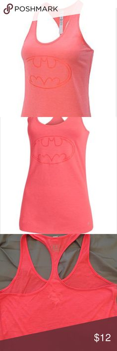 Under Armour pink Batman heat gear tank Small Under Armour pink Batman heat gear tank.  Rarely used in good condition very cool for summer and fun! Under Armour Tops Tank Tops