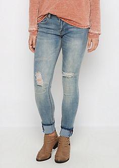 Flex Destroyed Graphic Skinny Jean