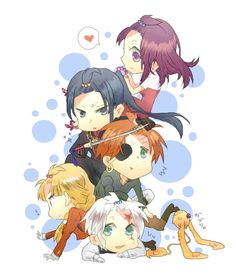Allen Walker, Lavi, Yuu Kanda, Lenalee Lee, Timcanpy & Howard Link | D.Gray-man
