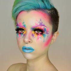 Consulta esta foto de Instagram de @kimberleymargarita_ • 15 mil Me gusta Clown Makeup, Fx Makeup, Airbrush Makeup, Costume Makeup, Beauty Makeup, Hair Makeup, Scene Makeup, Carnival Makeup, Makeup Tips