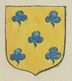 Feu Charles DE SANSON, écuyer, sieur d'Amné. Porte : d'or, à cinq trefles d'azur, posées en sautoir | N° 271