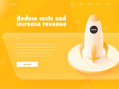 Rocket orange we design yellow rocket isometric illustrations ui web Game Design, Ui Design, Rocket Design, One Wave, Ui Web, Game Ui, Get One, Orange, Yellow