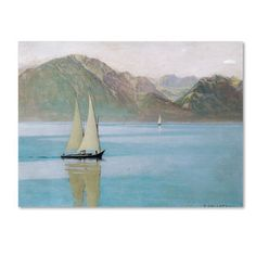 Felix Vallotton 'Boat On Lake Geneva 1892' Canvas Art | Overstock™ Shopping - Top Rated Trademark Fine Art Canvas