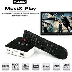 DARK DKMVPLAY Movix Play Full HD 1080p MKV/H.264 DTS/Dolby 7.1 Ses Destekli Medya Oyn. :: Cepte Alisveris
