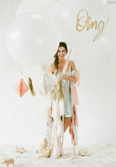"""Fringe with 36"""" Signature Balloon by dropitMODERN on Etsy https://www.etsy.com/listing/217468430/fringe-with-36-signature-balloon"""