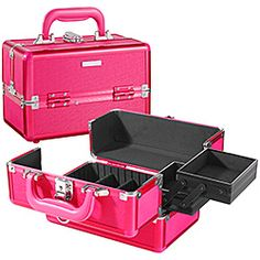 What it is:A mini, hot pink train case for the beauty obsessed. What it does:Keep your growing makeup collection organized and chic with this electric pink, travel-friendly train case. #SephoraColorWash
