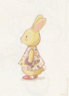 Le lapin dans la lune - Non dairy Diary - Dreamybunny