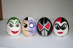 batman easter eggs painted by me.