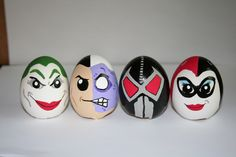 batman easter eggs painted by me.