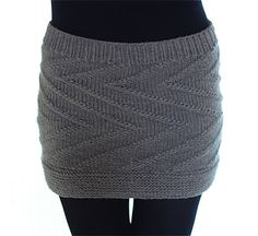 Easy: Zigzag-Minirock stricken | maschentext.de