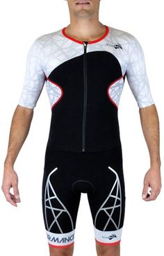 Look sharp while you outperform your competition in the Kiwami Men's Spider LD Aero Trisuit! Conquer triathlons in this trisuit!