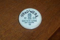 Frank Carpay...Crown Lynn badge. Badge, Porcelain, Pottery, Crown, Personalized Items, Collection, Ceramica, Porcelain Ceramics, Corona