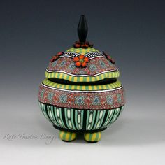 Orange Fleur Pot by Kate Tracton Designs
