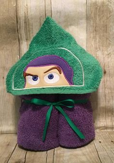 Kids love these hooded character towels! The body of the towel measures 54 inches by 30 inches, so they are perfect for all ages! Character face is embroidered on the hood and each item can be personalized with the childs name down the side of the towel. Towel colors can be Baby Must Haves, Pool Towels, Kid Names, Future Baby, Color Change, Ranger, Hoods, Applique, Crochet Hats