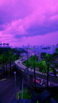 Miami is beautiful in purple.