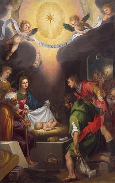 The Adoration of the Shepherds with Saint Catherine of Alexandria, 1599 Cigoli