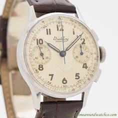 Vintage Watches Collection : 1945 Vintage Breitling Premier 2 Register Chronograph Stainless Steel watch with. - Watches Topia - Watches: Best Lists, Trends & the Latest Styles Men's Watches, Breitling Watches, Fossil Watches, Sport Watches, Luxury Watches, Cool Watches, Fashion Watches, Men's Fashion, Mens Designer Watches