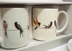 'Swoop & Turn' Swallows Design Bone China Mug Gift Set in Display Box #Mug #bird #swallow #giftset #homedecor #accessories #giftware