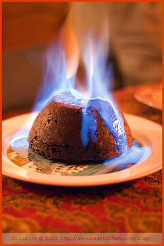 Christmas Pudding On Fire.Pinterest