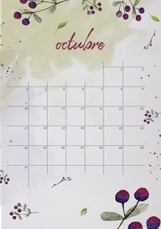 Hoy en el blog el calendario de octubre, como siempre en varias versiones