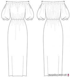 Платье с чашками выкройка