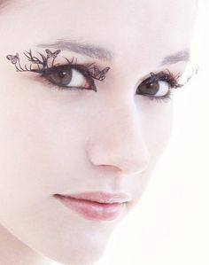 Laser cut eyelashes. Perfect for mother nature costume