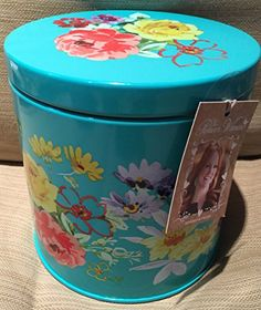 The Pioneer Woman 6 1/2 Turquoise Floral Design Steel Tin Canister The Pioneer Woman http://www.amazon.com/dp/B017GFMI3I/ref=cm_sw_r_pi_dp_9HYHwb1RXFVQH