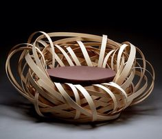 Nina Bruun is the designer of this unique chair, the Nest Chair. Art Furniture, Italian Furniture, Apartment Furniture, Unique Furniture, Contemporary Furniture, Furniture Design, Contemporary Art, Inexpensive Furniture, Furniture Websites
