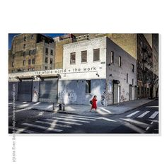 :: Lone Walk Home - #iPhotography Location - #HudsonSquare #LowerManhattan #NYC #NewYork Subject - #Female #UrbanArcheology #DocumentaryPhotography  Camera - #Apple #iPhone6 #EvanSante  Please consider following my #Instagram Feed - http://ift.tt/1S9w64J  2015 - Evan Santé - All Rights Reserved