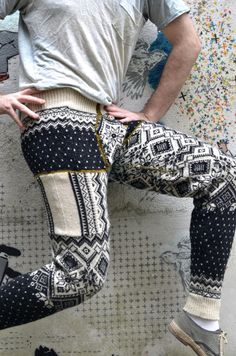 steeks and swants « Kate Davies Designs | Stephen West's Sweater Pants/Swants