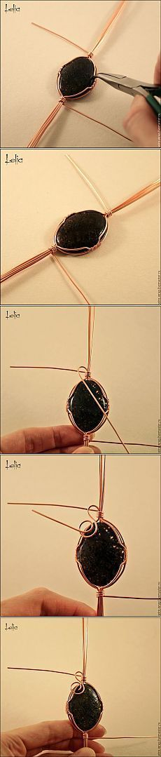Master-class weaving copper wire pendant (part 1) - Fair Masters - handmade, handmade