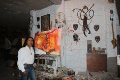 https://flic.kr/p/zqAdgj   Pintor-Escultor Ortega Maila   Artista Ortega Maila en su estudio de arte.