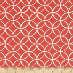 Michael Miller Tile Pile Coral from @fabricdotcom  Designed for Michael Miller Fabrics, this cotton print includes colors of coral and white. Use for quilting, apparel and home decor accents.