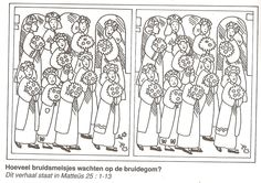 how many bridesmaids waiting for the groom ? Five foolish and five wise girls find the 10 differences