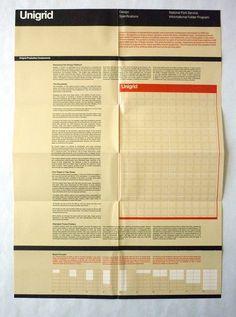 Massimo Vignelli – National Park Service Unigrid design specification brochure