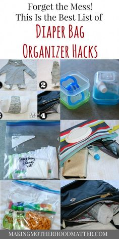 Forget the mess and get organized with the best list diaper bag organizer hacks where I share my top 8 tricks for parents. - Diaper Bags - Ideas of Diaper Bags Best Diaper Bag, Baby Diaper Bags, Diaper Bag List, Diaper Bag Backpack, Bag Sewing, Diaper Bag Organization, Diaper Bag Essentials, Diaper Bag Checklist, Amigurumi
