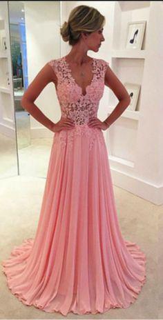 Pink Prom Dresses,Chiffon Prom Dress,Chiffon Prom Dresses,Simple