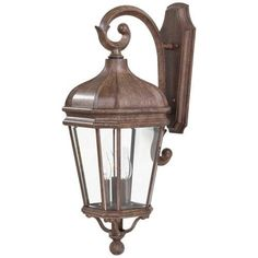 The Great Outdoors GO 8692 3 Light 27.75 Height Outdoor Wall Sconce from the Harrison Collection (vintage rust) (Aluminum)