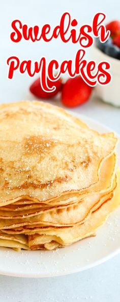 Best Swedish Pancake Recipe, Swedish Pancakes, Breakfast Ideas, Breakfast Recipes, Freeze Pancakes, Fabulous Foods, Crepes, Fall Recipes, Meal Ideas